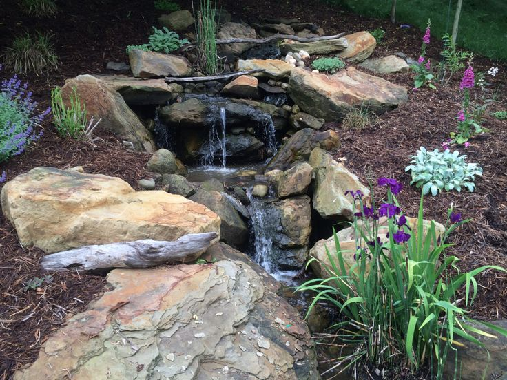 17 best images about ponds and waterfalls on pinterest for Prefab waterfalls for ponds