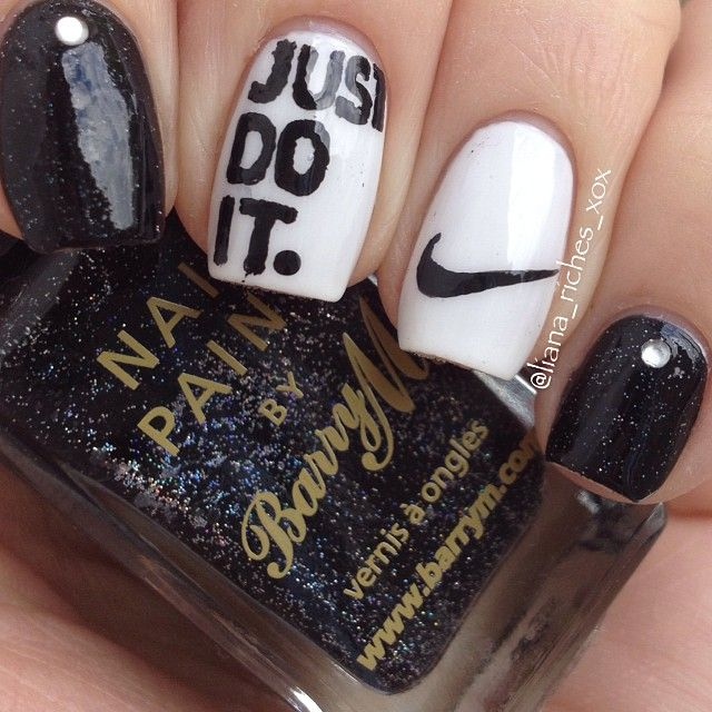 Nike Inspired Nails. #justdoit