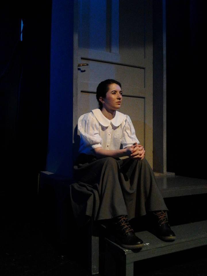 Evi Koroni on stage
