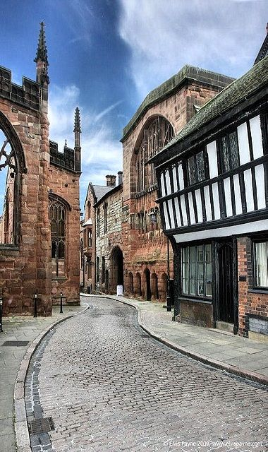 Ye olde walkway..  Coventry, England (by elvis_payne on Flickr)