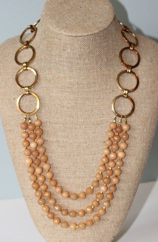 Long Statement Necklace with Faceted Agate by TheGildedPeacock
