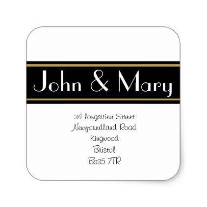 Elegant Change of Address sticker or address label - sticker stickers custom unique cool diy