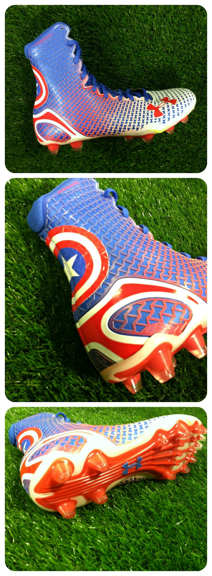 Transform yourself with the Under Armour Highlight Cleat - Captain America