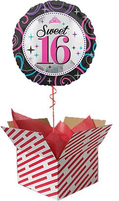 Sweet 16 Helium Balloon Delivered