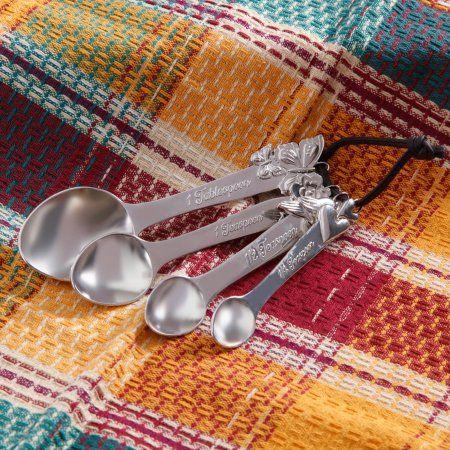 The Pioneer Woman Cowboy Rustic Metal Figural Measuring Spoons, Silver