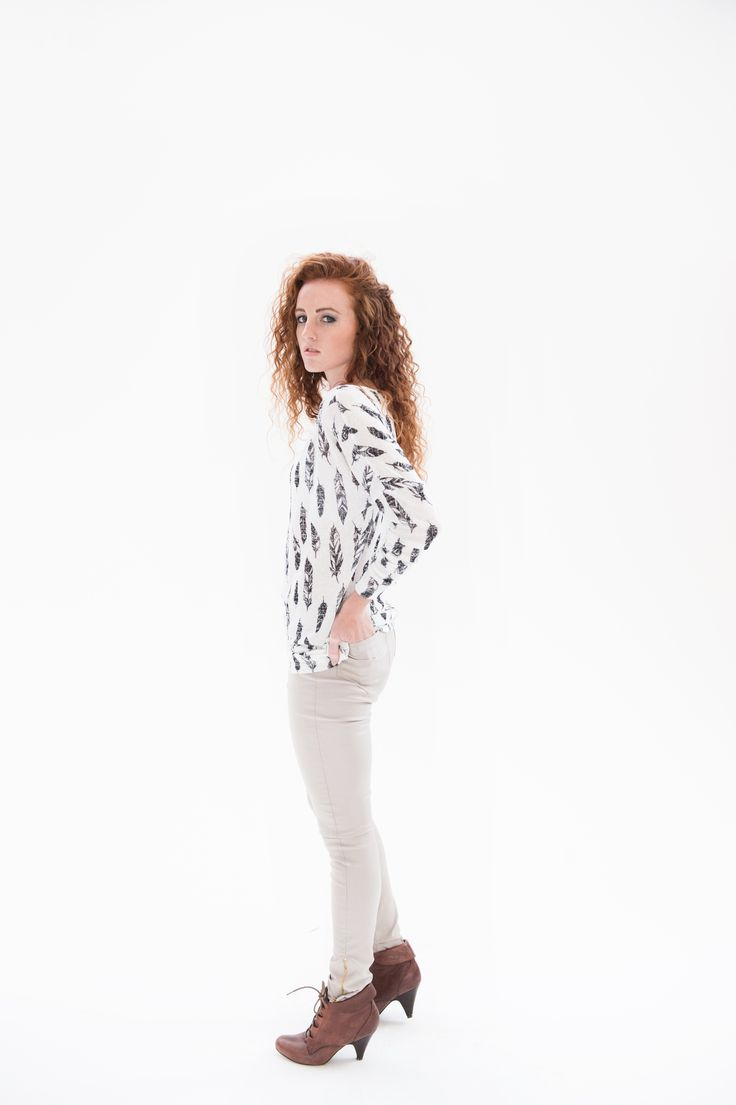 THE Pants compliments any figure elegant and trendy, paired with our feathered shirt.