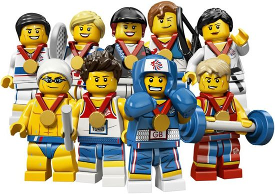 Eee! Olympic Lego minifigs. WANT.  2012 Olympics by the Numbers {Awesome!}