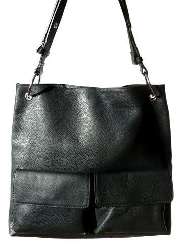 Gapock X Crossbody Travel Bag Black Pebble Grain by IMPERIO jp