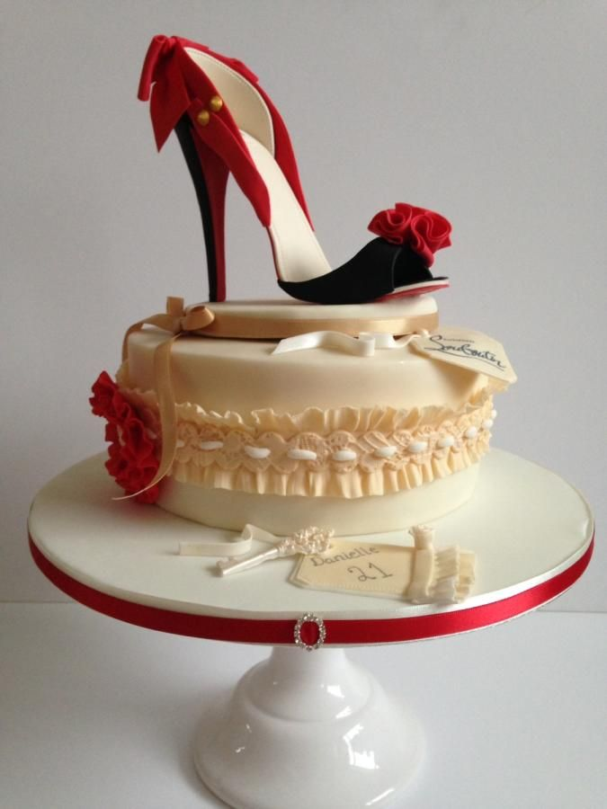 Louiboutin shoe cake  by Carry on Cupcakes