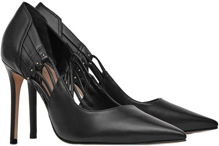 Reiss Honor Leather Court Shoe