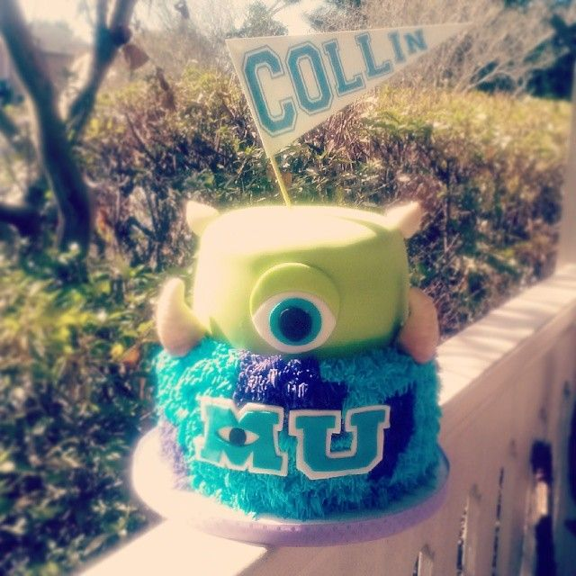 Monsters University cake! #cake #birthday