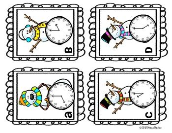 Telling Time with Snowmen {Freebie}