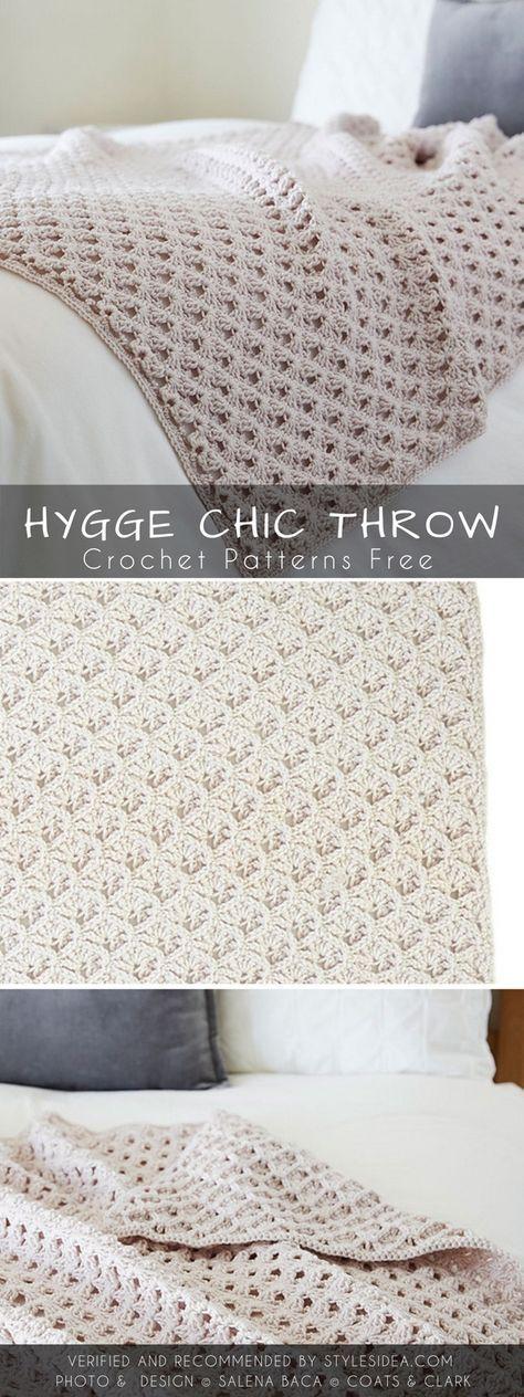 Hygge Chic Throw Crochet Pattern Free Crochet Pattern #crochet #crocheting #free…