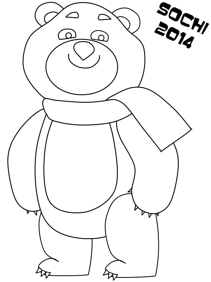 olympic games mascots coloring pages - photo#19