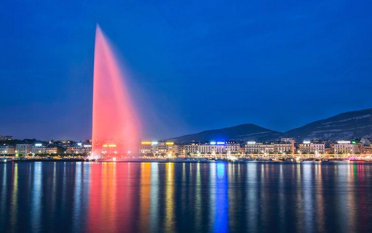 Jet d'Eau Fountain - Geneva, Switzerland