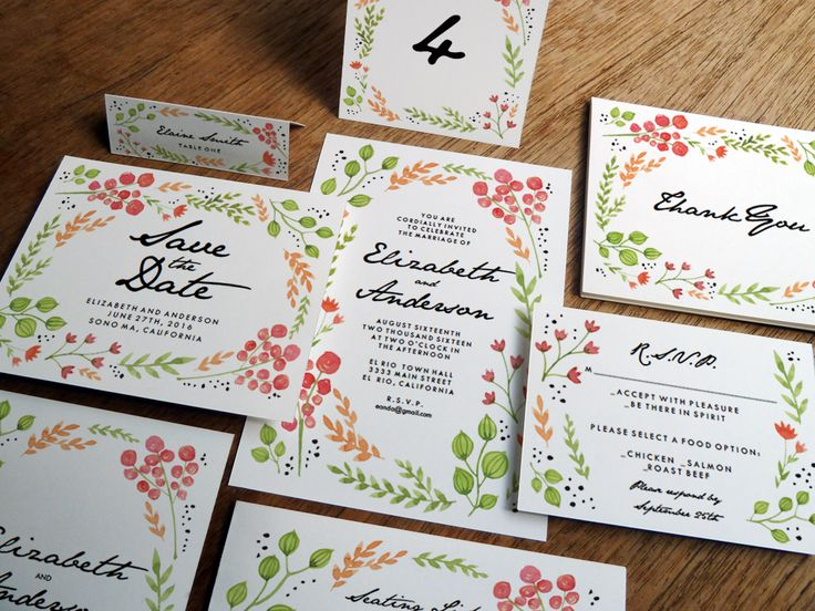 Printable Wedding Invitation Kit