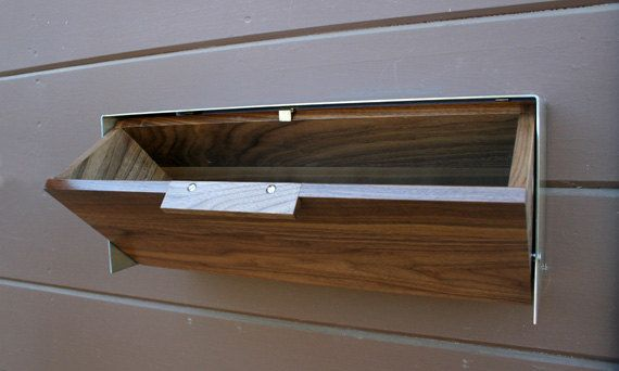 Modern Mailbox Walnut and Stainless Steel Mailbox by CeCeWorks