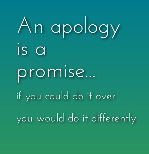 Apology - rules, tips and tricks on how to apologize