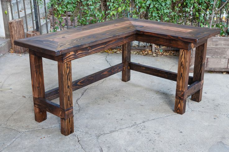 Wow this would look great in an office! rustic l-shaped desk from reclaimed wood - walton woodcraft-1.jpg