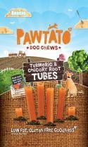 Pawtato Tumeric & Chicory Root Tubes (Vegan) Dog Treats .