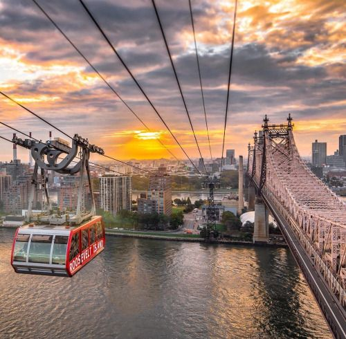 Roosevelt Island tram The East River & Queensboro Ed Koch