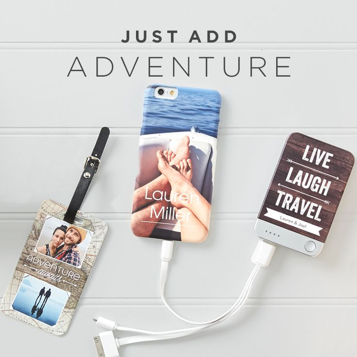 Get ready for your summer getaway with personalized travel essentials. From your water bottle to your phone charger, add your favorite memories to just about anything at Shutterfly.