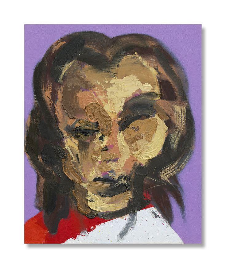 Sef Berkers. Study for self-portrait, oil on canvas, 49,5 x 40 cm.