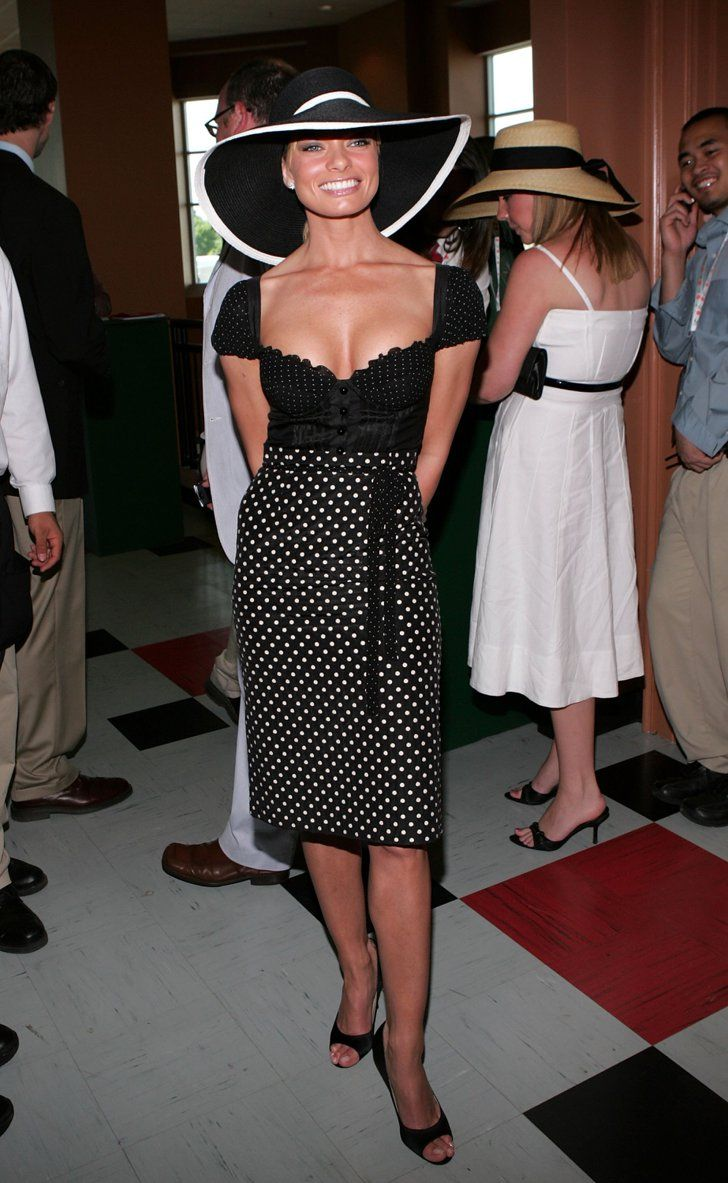 Pin for Later: Hats, Horses, and High Stakes — Stars at the Kentucky Derby!  In 2006, Jaime Pressly popped up in Kentucky for the races.