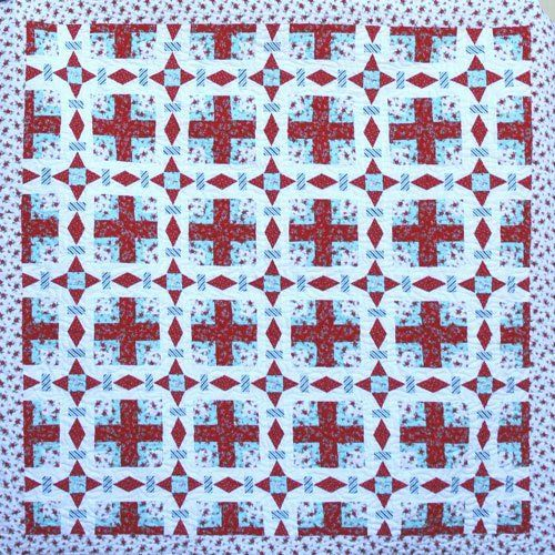 """""""Peppermint Crossing"""" designed by Sharon Burgess for Lilabelle Lane."""