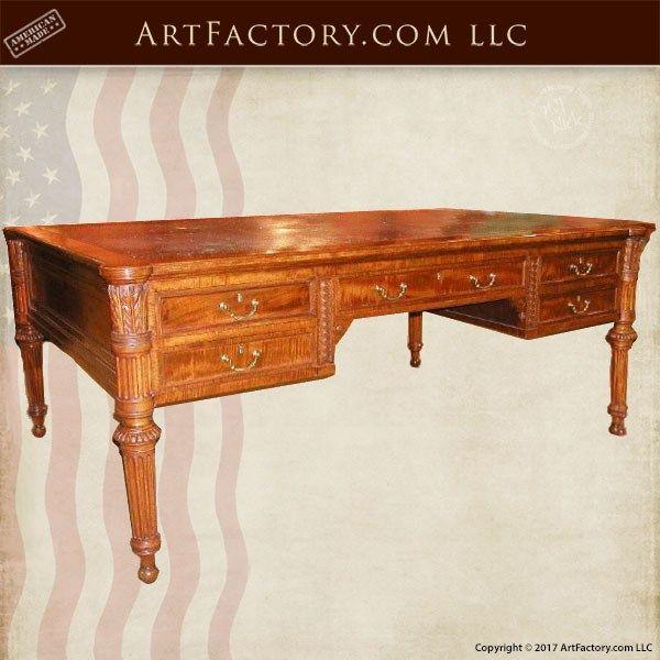 Fine Art Wooden Desk Built With Period Correct Victorian Design Wooden Desk Wood Desk Custom Wood Furniture