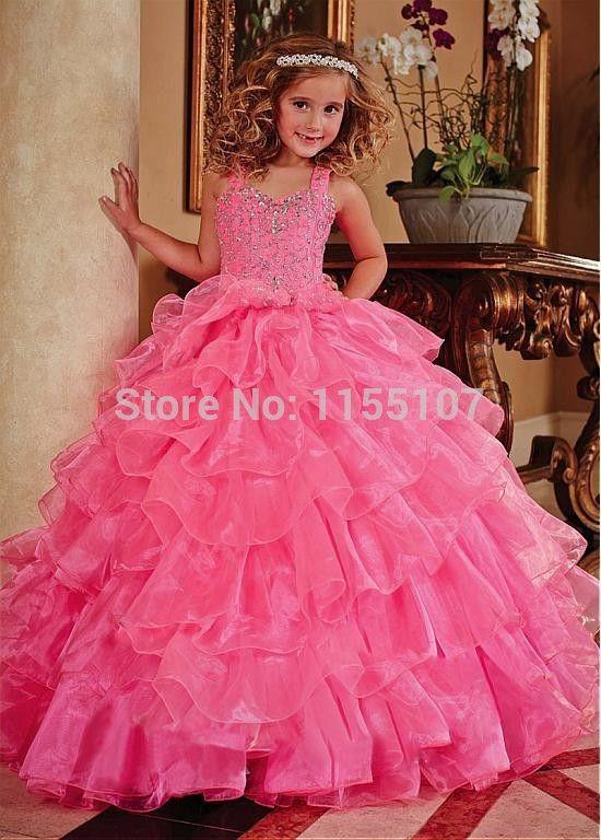 2015 nova meninas Pageant vestidos Vintage Vestido De baile De Organza rosa Vestido De baile flor meninas Vestido De Daminha em Vestidos de Dama de Honra de Casamentos e Eventos no AliExpress.com   Alibaba Group