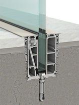Sistema de fijación aluminio / de barandilla / para panel / perfiles de fijación