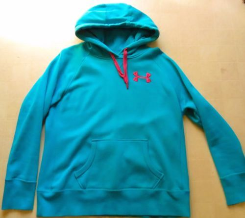 Under Armour Hoodie COLD GEAR Loose Storm Pullover Women's Medium Blue Pink M