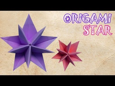 Origami Star Tutorial - Origami Easy - YouTube