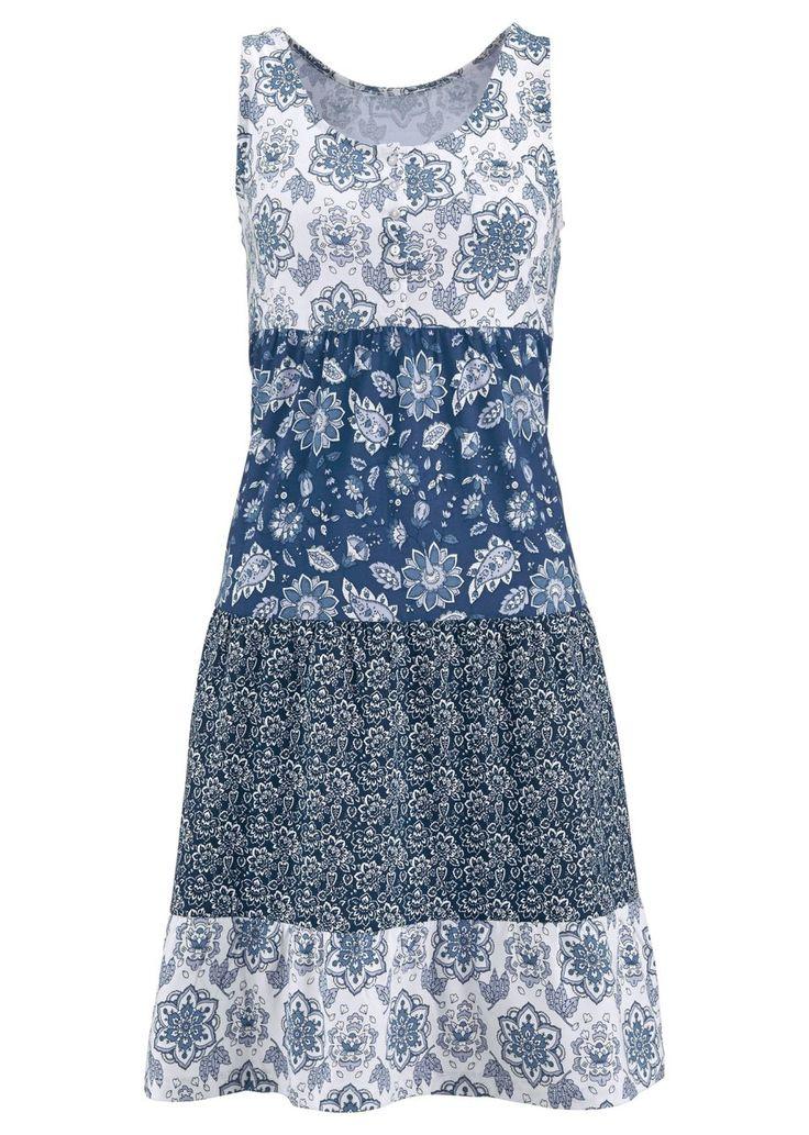 Klänning indigoblå, mönstrad - John Baner JEANSWEAR köp online - bonprix.se