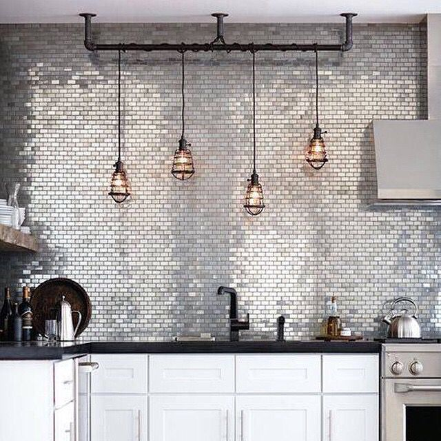 Lovely Stainless Steel Backsplash
