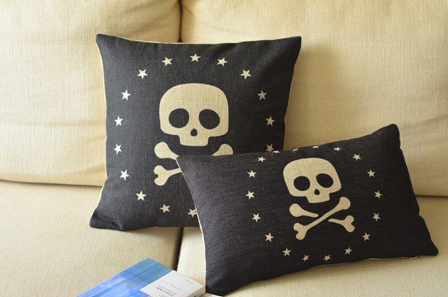 Pirate Black Skull Pillow Case //Price: $29.69 & FREE Shipping //     #skull #skullinspiration #skullobsession #skulls