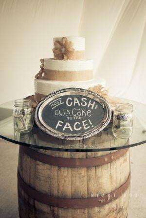 Wedding cake SMASH! Such a fun idea.  heartboxweddings.com
