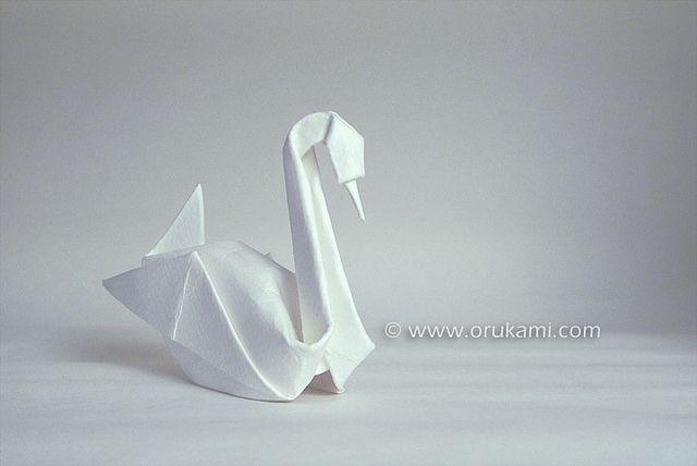 Akira Yoshizawa Origami Swan. Folded by Himanshu Agrawal. Photographed by Blanka Pentela.