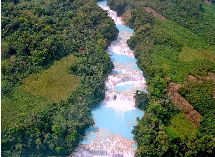 13 piscinas naturales impresionantes: Cascadas de Agua Azul, México