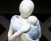 Mother & Child Figurine - Baby Carrying - Made to Order $50
