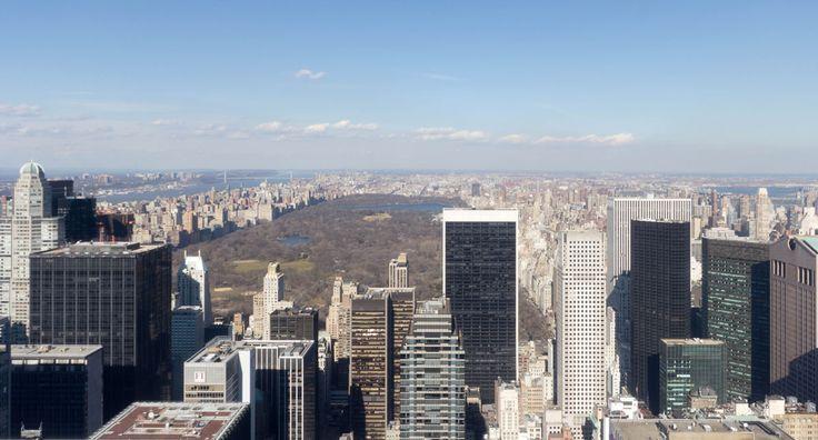 New York Sehenswürdigkeiten Rockefeller Aussicht auf Central Park
