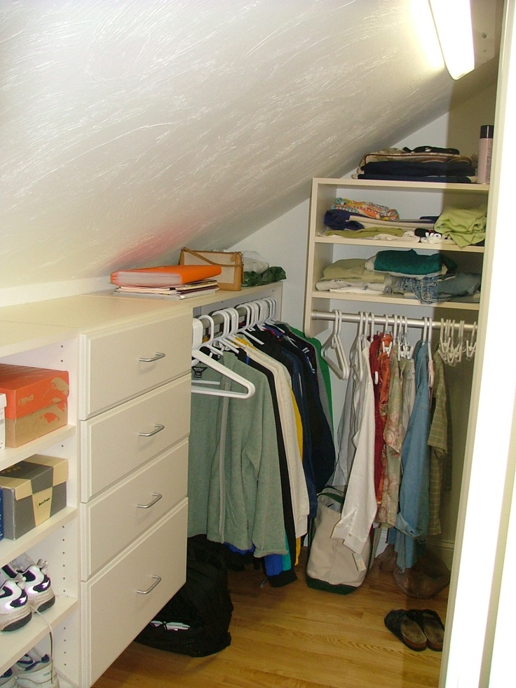 14 Best Closets With Angled Ceilings Images On Pinterest