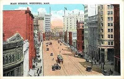 Winnipeg Manitoba Canada 1920s Main Street Collectible Antique Vintage Postcard
