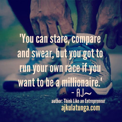 You know how you sometimes compare yourself to others? Well doesn't help you get ahead. Here's what to do --> http://the-entrepreneurs-mind.tumblr.com/post/112460742505/run-your-own-race-right-before-you-start-your  #businessquotes #businessmotivation #entrepreneurquotes