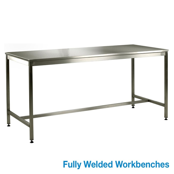 medium duty stainless steel workbench fully welded 304 grade stainless steel frame from legs with adjustable feet and cross members