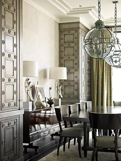 Custom lighting & feature walls http://www.thestyleproject.com.au/blog/dining-rooms/