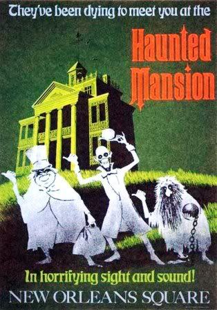 vintage disney.  the haunted mansion is so iconic, not to mention one of my favorite rides ever.
