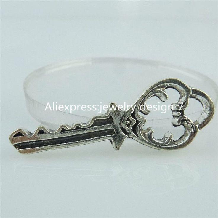 ( 15 pieces / lot ) 14824 сплав античное серебро винтажный полые влюбленность в форме сердца ключ кулон ключ влюбленность