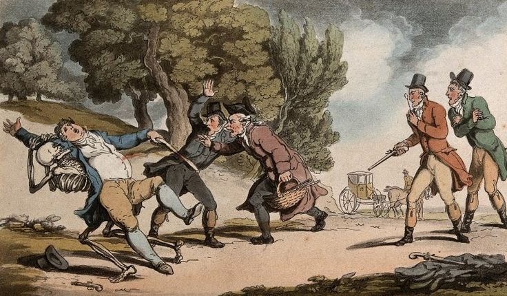 The dance of death: the duel by T. Rowlandson, 1816. The Wellcome Library, CC BY